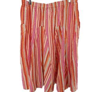 Summer perfect seersucker skirt in bright hues